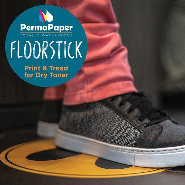 Precut 205mm circle floor sticker